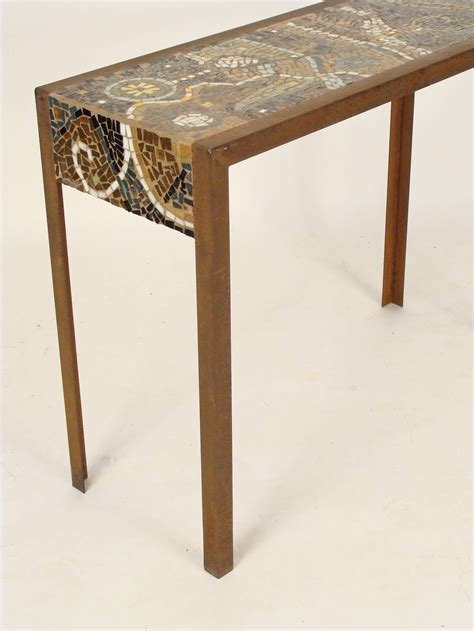 mosaic tile top console table at 1stdibs