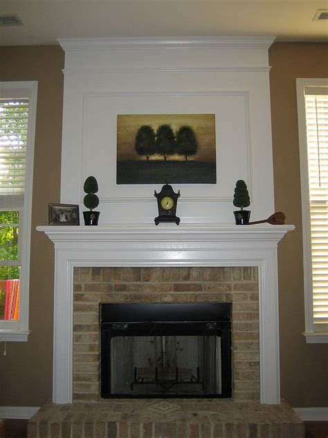 white moulding   brick fireplace note  paintingwill work   colors basement