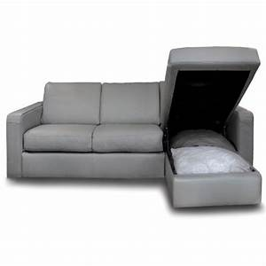 sofa bed with chaise and storage smileydotus With sectional sofa with bed and storage