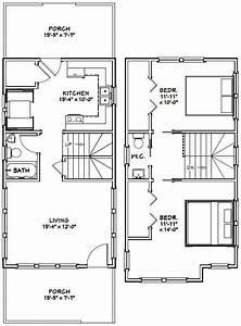 16x30 Tiny House -- 2 Bedroom -- Pdf Floor Plan
