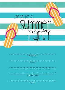 Mckissick Creations  Summer Party Invitation
