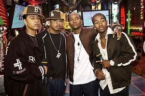 B2K appear on stage during MTV's Total Request Live ...