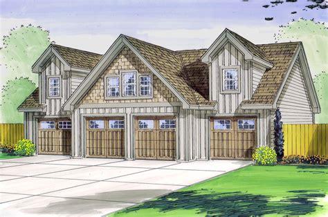 4 Bay Garage With Loft  62468dj  Architectural Designs