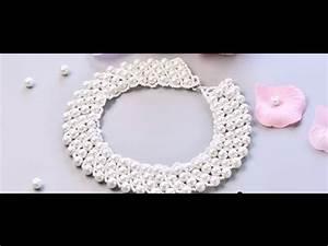 Comment Faire Un Bracelet En Perle : vid o 53 p comment faire un collier avec perles en verre nacr youtube ~ Melissatoandfro.com Idées de Décoration