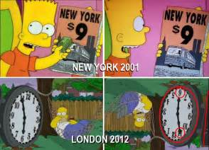 Denver Airport Conspiracy Murals by News Headlines Simpsons Show Predicts Olympic Disaster