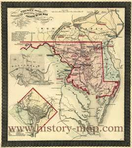 Maryland Civil War Map