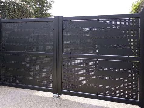 perforated metal  gate  door