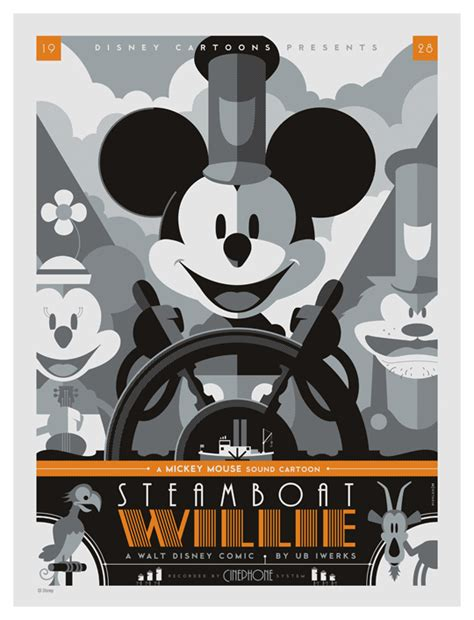 Steamboat Willie by Strongstuff Mondo Steamboat Willie