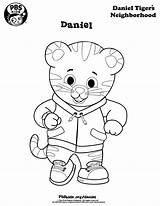 Coloring Tiger Daniel Pages sketch template