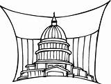 Government Washington Coloring Building Capitol State Leader Scout Junior Badge Sketch sketch template