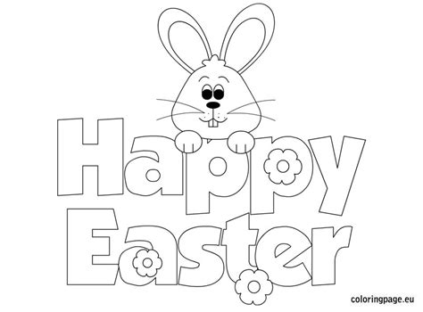 Coloring Pages Of Happy Easter