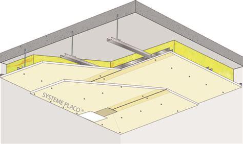 plafond placostil 174 sur fourrures stil 174 f 530 plancher