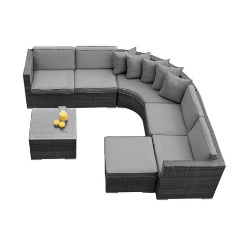 Curved Corner Sectional Sofa by Curved Corner Sofa Set In Brown Or Grey By Out There