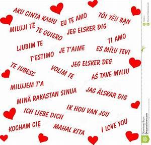 Ich Liebe Dich In Allen Sprachen Der Welt Stockbilder