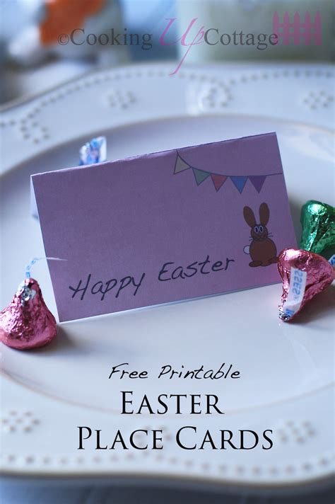 printable easter place cards cooking  cottage