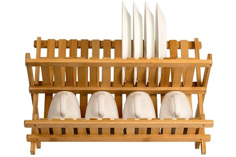 china wooden dish rack plate rack collapsible compact dish drying rack bamboo dish drainer