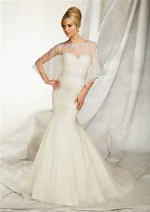 slim mermaid sweetheart tulle beaded wedding dress with wrap With wedding dress wrap