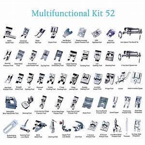 Professional 52 Pcs Domestic Sewing Machine Presser Feet