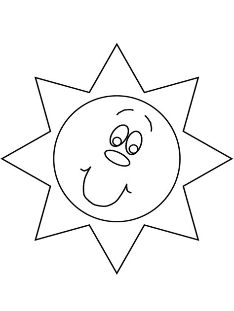 Sun Template Sun Template For Coloring Home