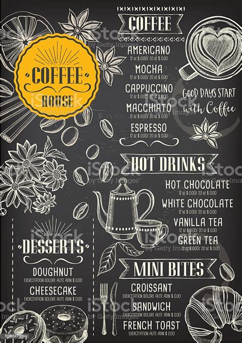 Subscribe to envato elements for unlimited graphic templates downloads for a single monthly fee. Coffee Cafe Menu Template Design Stock Illustration ...