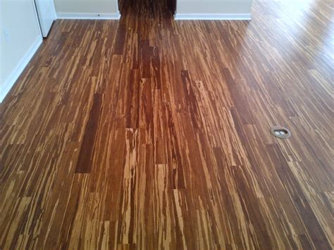 Tiger Stripe Bamboo Flooring Cheap by Tiger Stripe Strand Bamboo Installation In Ballantyne