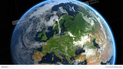 Images Of Earth From Space Europe From Space Zoom To Europe Earth From Space Stock