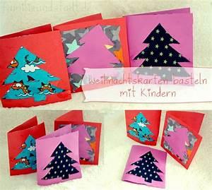 Basteln Mit Stoffresten : weihnachtskarten basteln mit kindern card ideas xmas ~ Lizthompson.info Haus und Dekorationen