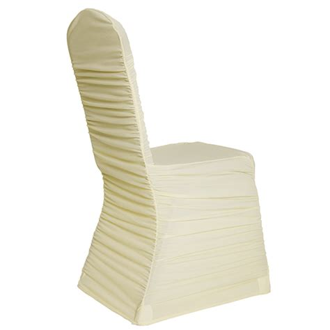 ivory chair covers for weddings ivory ruched chair covers