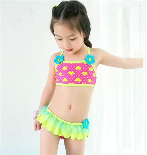 retail cute childrens swimsuit girls flower bikini baby