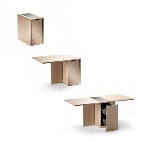 table cuisine escamotable ou rabattable spécial petit espace table pliante et meuble gain de