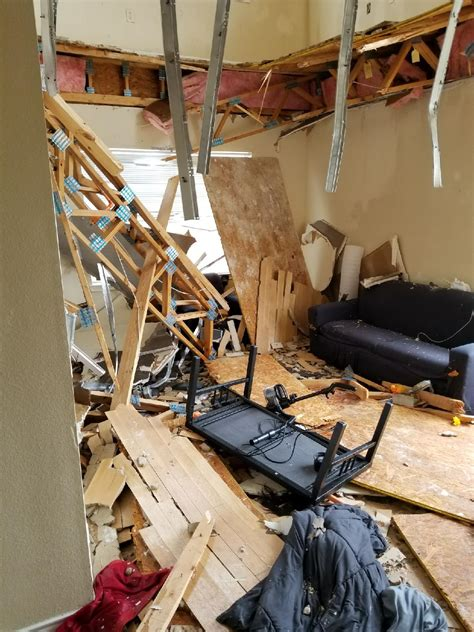 video dramatic moment unt apartment floor collapses
