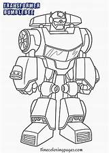 Coloring Pages Bumblebee Printable sketch template