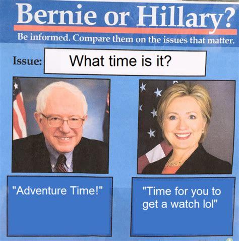 Bernie Hillary Memes - bernie of hillary meme tumblr