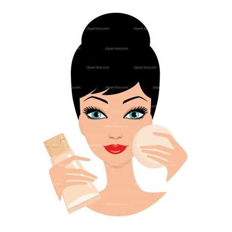 Putting On Makeup Clipart Clipart Suggest