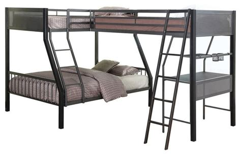 jakks metal twinfull  shape study loftbunk     transitional bunk beds