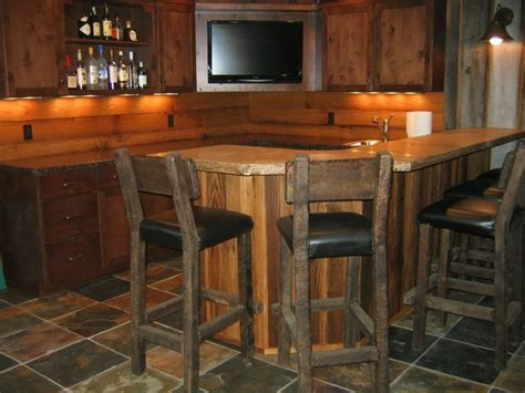 basement bar ideas bar styed as pub rustic basement cleveland by Rustic