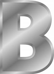 effect letters alphabet silver b clip art at clkercom With large silver letters