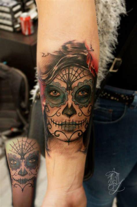 Sugar Skull Cover Tattoo Best Design Ideas