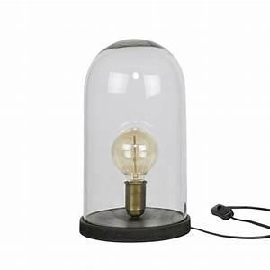Lampe A Poser : lampe poser industrielle verre et bois l cover up by drawer ~ Nature-et-papiers.com Idées de Décoration