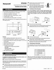 Honeywell Rth230b User Manual