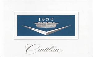 1958 Cadillac Owners Manual Operator User Instruction