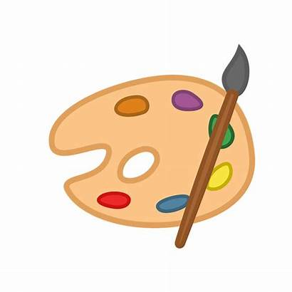 Tray Clipart Paint Painting Dinner Transparent Webstockreview