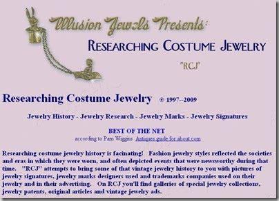 classy flea researching costume jewelry