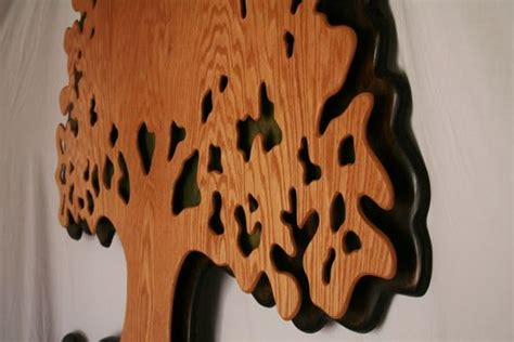 hand crafted extra large oak wood tree  life hanging