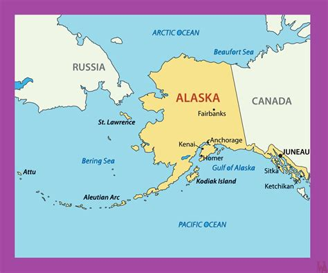 Alaska Political Map | Political Map of Alaska | WhatsAnswer