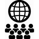 Icon Global International Network Multilingual Globe Staff