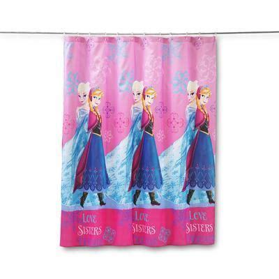 frozen shower curtain disney frozen fabric shower curtain elsa home