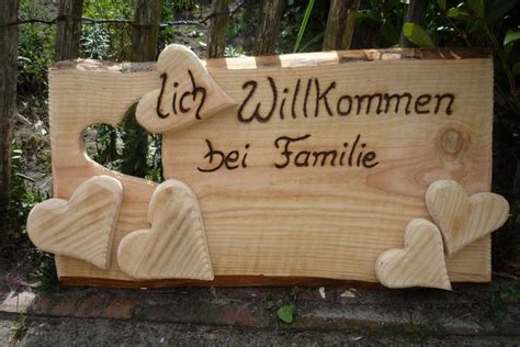 Türschild ♥lich Willkommen Bei Familie Von Holz