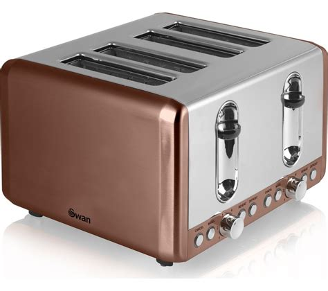Buy 4 Slice Toaster by Buy Swan St14050copn 4 Slice Toaster Copper Free