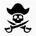 Pirate Skull Icon Piracy Swords Skeleton Bones